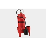 "Red Lion 14942748, RL-WC50TA, 1/2 HP, 115V, Cast Iron Sewage Pump, Piggyback Tethered Float Switch, 2"" Discharge"