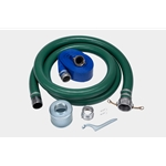 "Red Lion 617201 3 Inch Hose Kit 20' Suction with 3"" strainer and 50' Discharge hose"