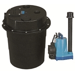 Little Giant 505055 WRS-5 115V 60Hz - 1/6 HP, 15 GPM @ 5' - Submersible Utility Pump, Water Removal System w/ 5 gal. tank & 10' power cord