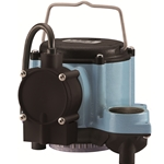 Little Giant 508157 8-CIA 115V 60Hz - 4/10 HP, 54 GPM - Automatic Submersible Sump Pump, 10' power cord