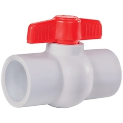 "Little Giant 566251 Ball Valve, BV-2S, 2"" Slip, PVC"