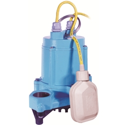 Little Giant 506600 HT-6E-CIA-FS 115V 60Hz - 1/3 HP, 50 GPM - Automatic Submersible High Temperature Effluent Pump, 15' power cord