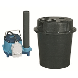 Little Giant 506055 WRS-6 115V 60Hz - 1/3 HP, 46 GPM @ 5'- Submersible Utility Pump, Water Removal System w/ 5 gal. tank & 10' power cord
