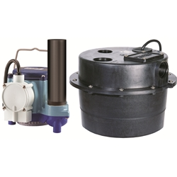 Little Giant 506065 WRSC-6 115V 60Hz - 1/3 HP, 46 GPM @ 5' - Submersible Utility Pump, Water Removal System w/ 3-1/2 gal. tank & 10' power cord