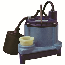Little Giant 506171 6-CIA-RFS 115V 60Hz - 1/3 HP, 46 GPM - Automatic Submersible Sump Pump w/ remote float switch, 10' power cord